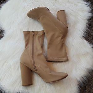 Public Desire Montreal Sock Fit Block Heel Shoe